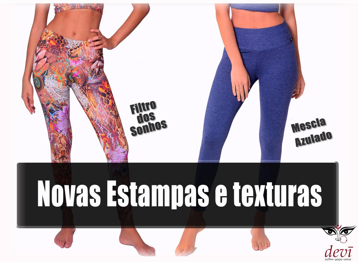 novas calças para yoga e pilates