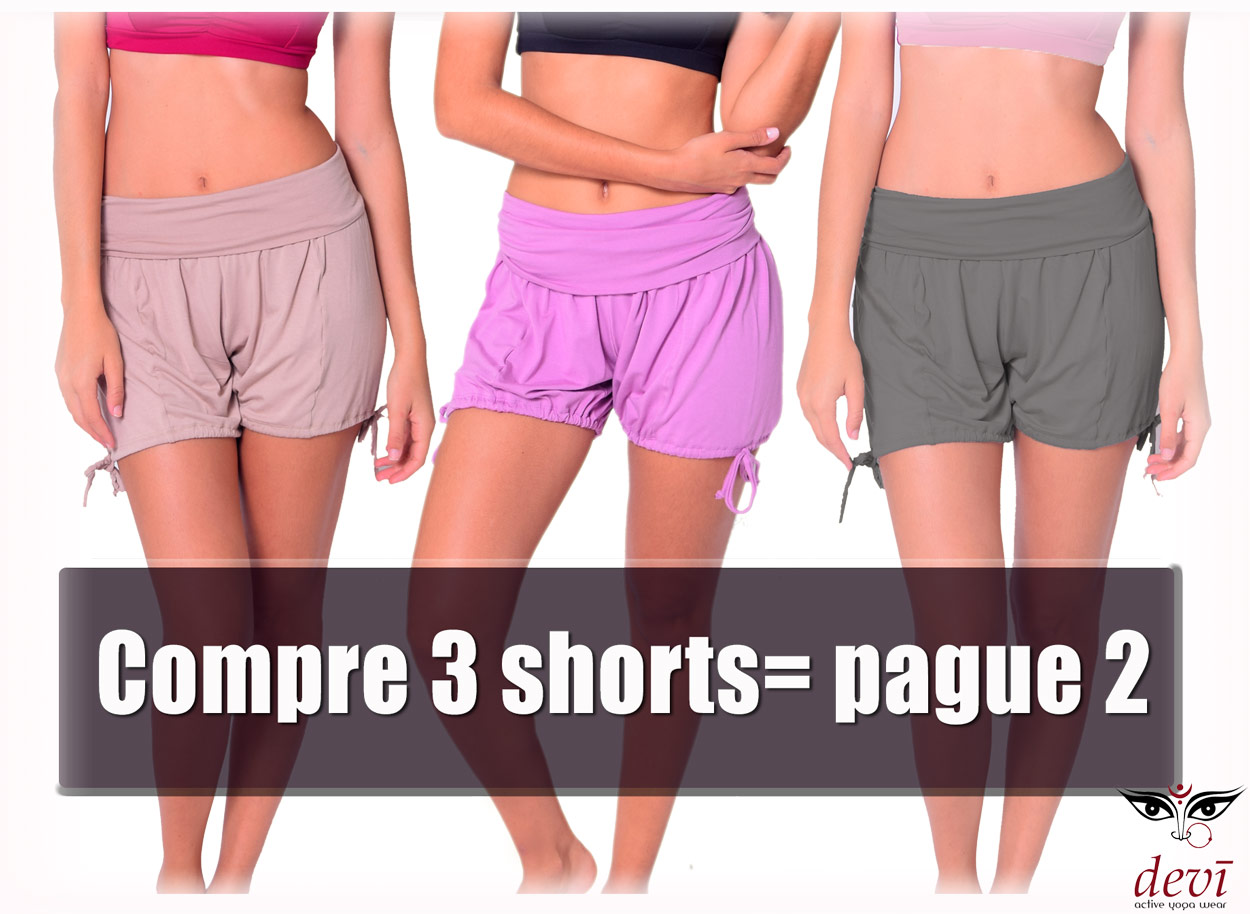 Compre 3 shorts de yoga pague 2