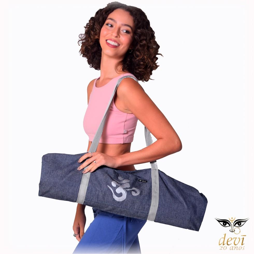 Bolsa Sacola para Tapetinho de Yoga com bolso   Devi