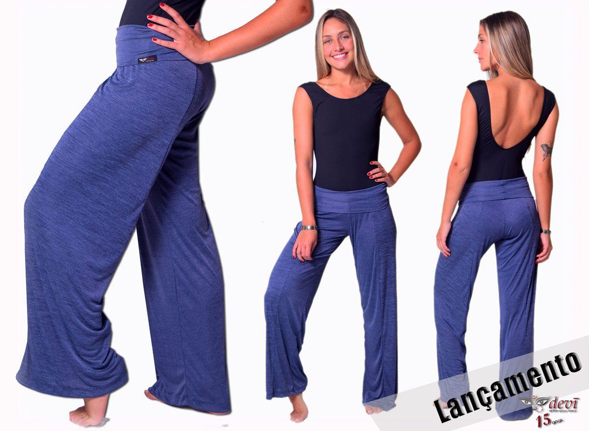 Calça Pantalona Mescla