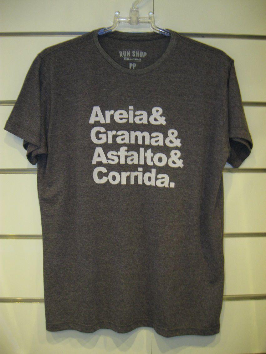 Camisa RUN SHOP - Areia e Grama e Asfalto e Corrida