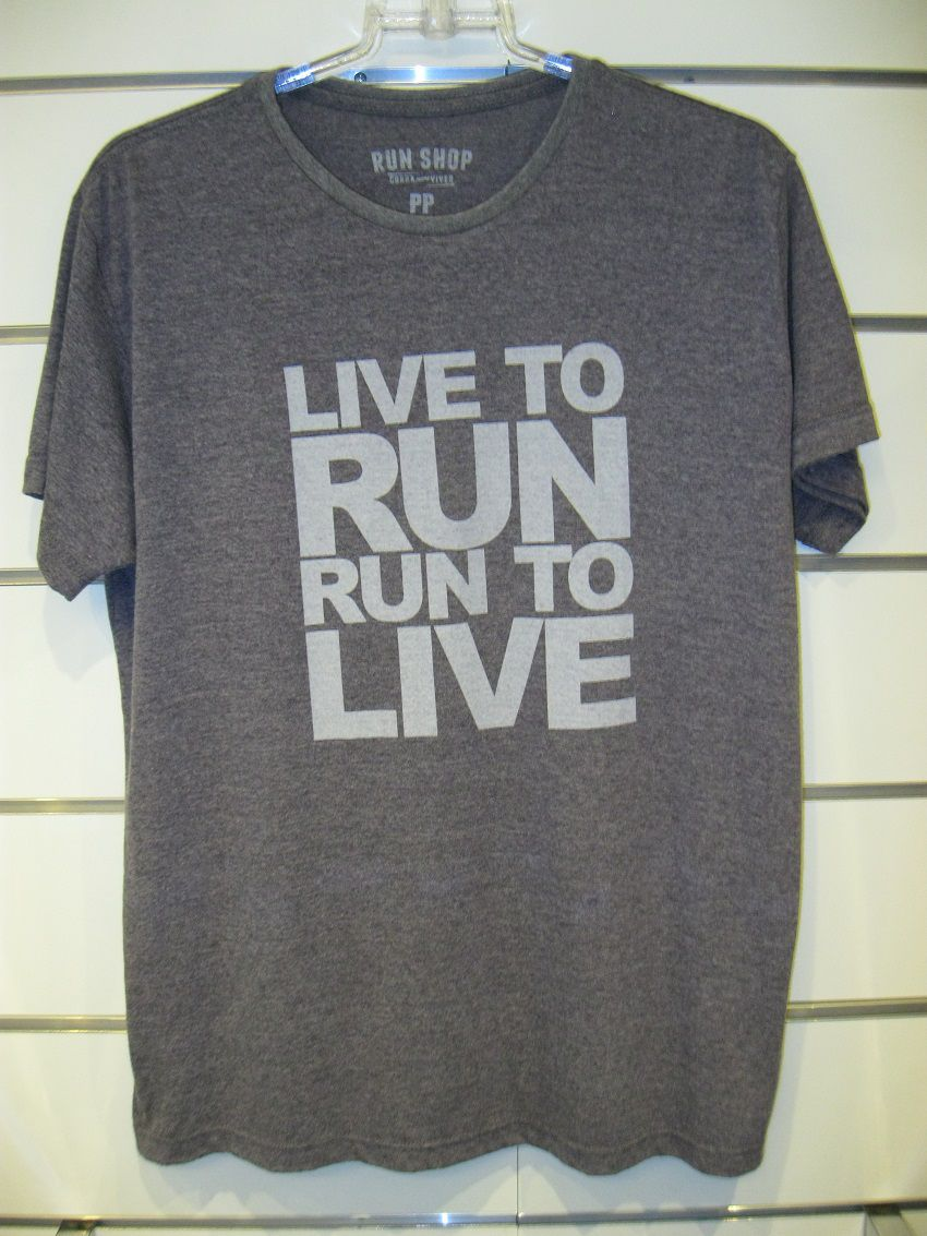 Camisa RUN SHOP - Live to Run. Run to Live