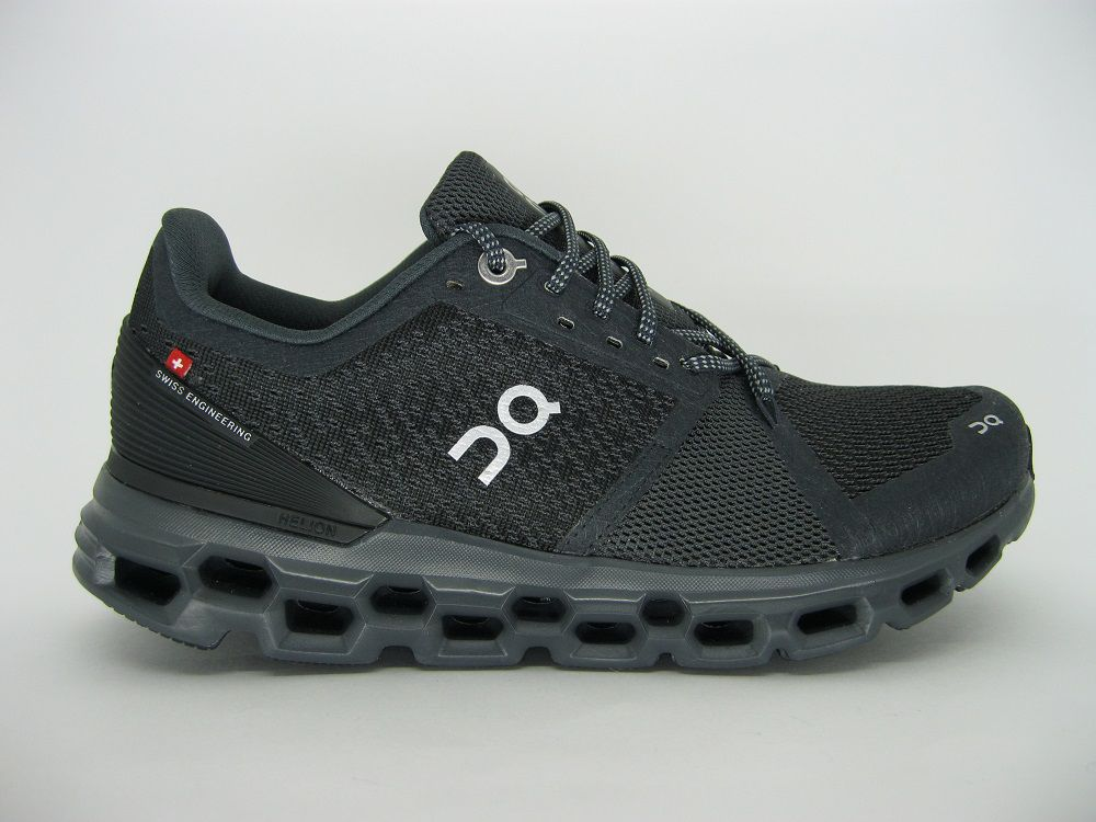Tênis On Running - Cloudstratus - Black / Shadow - Feminino