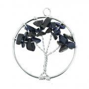 Árvore da Vida de Arame com Pedra - Pedra Estrela - 40mm
