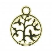 Árvore da Vida - Dourada - 18mm