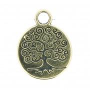 Árvore da Vida - Dourado Gráfico - 18mm