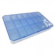 Caixa Organizadora - Azul Transparente