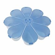 Caixa Organizadora Flor - Azul Transparente
