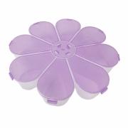 Caixa Organizadora Flor - Lilás Transparente