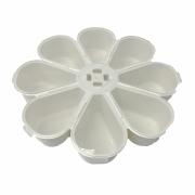 Caixa Organizadora Flor - Transparente e Branca