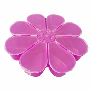 Caixa Organizadora Flor - Transparente e Pink