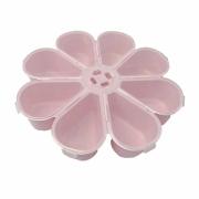 Caixa Organizadora Flor - Transparente e Rosa Bebê