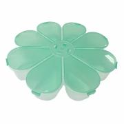 Caixa Organizadora Flor - Verde Transparente