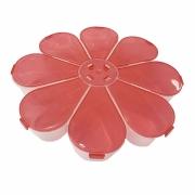 Caixa Organizadora Flor - Vermelha Transparente