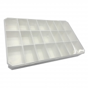 Caixa Organizadora - Transparente e Branca