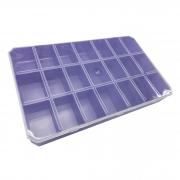Caixa Organizadora - Transparente e Lilás