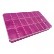 Caixa Organizadora - Transparente e Rosa
