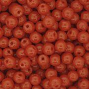 Contas de Porcellana® - Laranja - 6mm