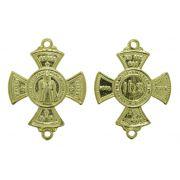 Crucifixo - Metal - Dourado - 3,7cm - 20 Peças