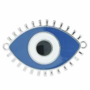 Entremeio Olho - Níquel e Resina - Azul