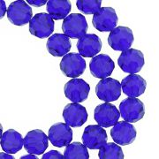 Fio de Cristal - Bello® - Azul Royal Transparente - 8mm