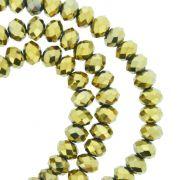 Fio de Cristal - Piatto® - Dourado - 6mm