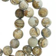 Fio de Pedra - Pietra® - Jaspe Madeira - 8mm