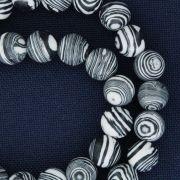 Fio de Pedra - Pietra® - Ágata Preta e Branca - 8mm