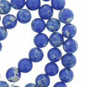 Fio de Pedra - Pietra® - Jaspe Imperial Azul - 8mm