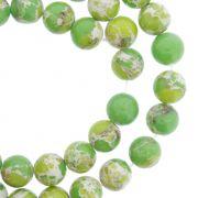Fio de Pedra - Pietra® - Jaspe Imperial Verde - 8mm