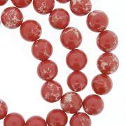 Fio de Pedra - Pietra® - Jaspe Imperial Vermelha - 8mm