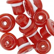 Firma de Vidro - Chapéu Vermelho e Branco