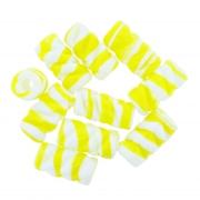 Firma de Vidro Frisada - Amarela e Branca