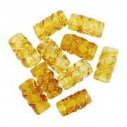 Firma de Vidro Frisada - Dourada Transparente