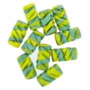 Firma de Vidro Frisada - Verde e Amarela