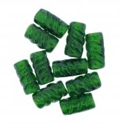 Firma de Vidro Frisada - Verde Transparente