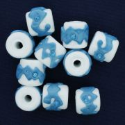 Firma Strass - Branca e Azul Clara