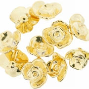 Flor ABS - Dourada - 17mm