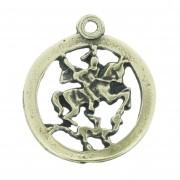 Medalha São Jorge - Ouro Velho - 22mm
