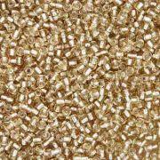 Miçanga 11/0 - 1.5x3.0mm - Dourada Clara Transparente