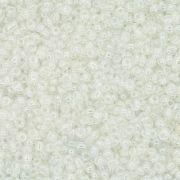 Miçanga 11/0 - 1.5x3.0mm - Perolada Transparente
