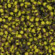 Miçanga 6/0 - 4.0x3.0mm - Amarela  e Marrom