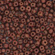 Miçanga 6/0 - 4.0x3.0mm - Vermelha e Preta