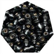 Miçanga Jablonex / Preciosa® - 5/0 [4,6mm] - Grafite Transparente - 500g