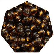 Miçanga Jablonex / Preciosa® - 5/0 [4,6mm] - Marrom Transparente - 500g