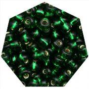 Miçanga Jablonex / Preciosa® - 5/0 [4,6mm] - Verde Transparente - 500g