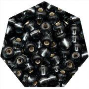 Miçanga Jablonex / Preciosa® - 6/0 [4,1mm] - Grafite Transparente - 500g