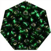 Miçanga Jablonex / Preciosa® - 6/0 [4,1mm] - Verde Transparente - 500g
