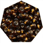 Miçanga Jablonex / Preciosa® - 6/0 [4,1mm] - Marrom Transparente - 500g