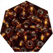Miçanga Jablonex / Preciosa® - 6/0 [4,1mm] - Ouro Velho Transparente - 500g